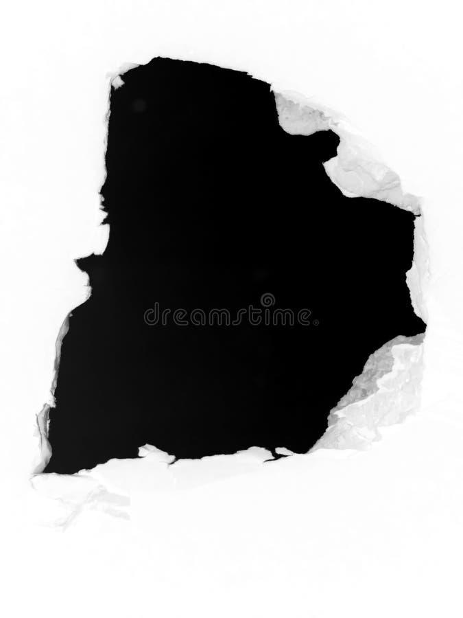 Apertura del foro della parete immagini stock libere da diritti