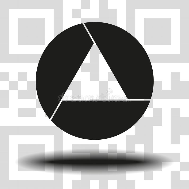 Apertura, kamera obiektywu symbol ilustracji