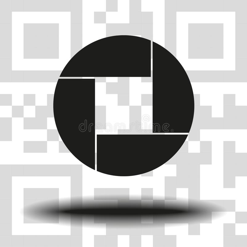 Apertura, kamera obiektywu symbol ilustracja wektor