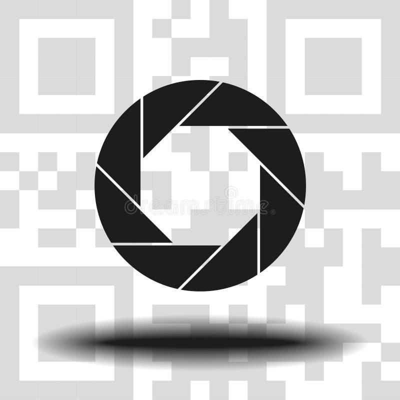 Apertura, kamera obiektywu symbol royalty ilustracja