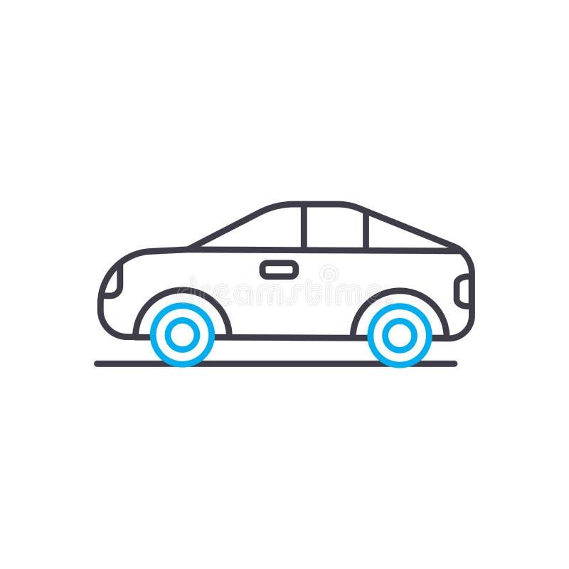 Apertura panelu wektoru uderzenia cienka kreskowa ikona Apertura panelu konturu ilustracja, liniowy znak, symbolu pojęcie ilustracja wektor