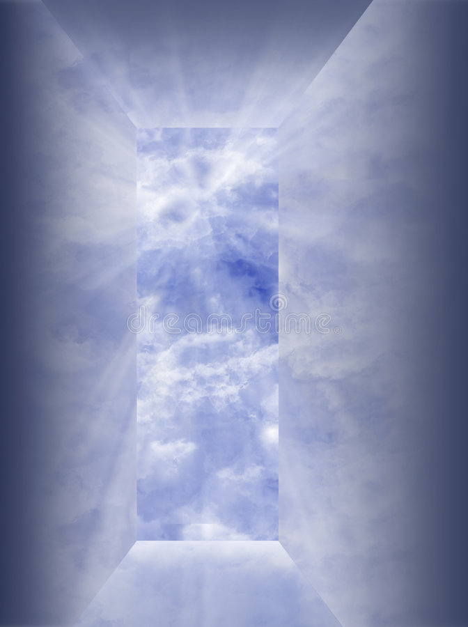 Apertura reflexiva al cielo stock de ilustración