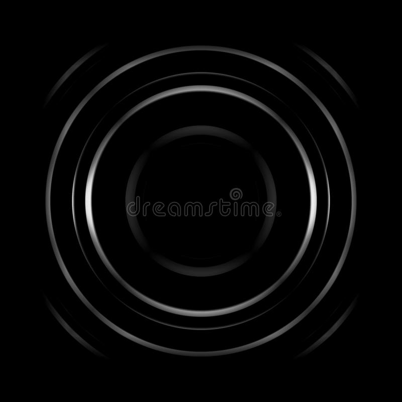 Aperture with black hole, abstract background.  vector illustration