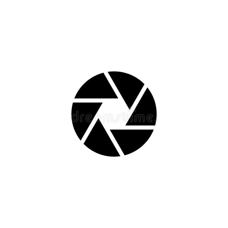 Aperture Focus Flat Vector Icon. Aperture Focus. Flat Vector Icon illustration. Simple black symbol on white background. Aperture Focus sign design template for stock illustration