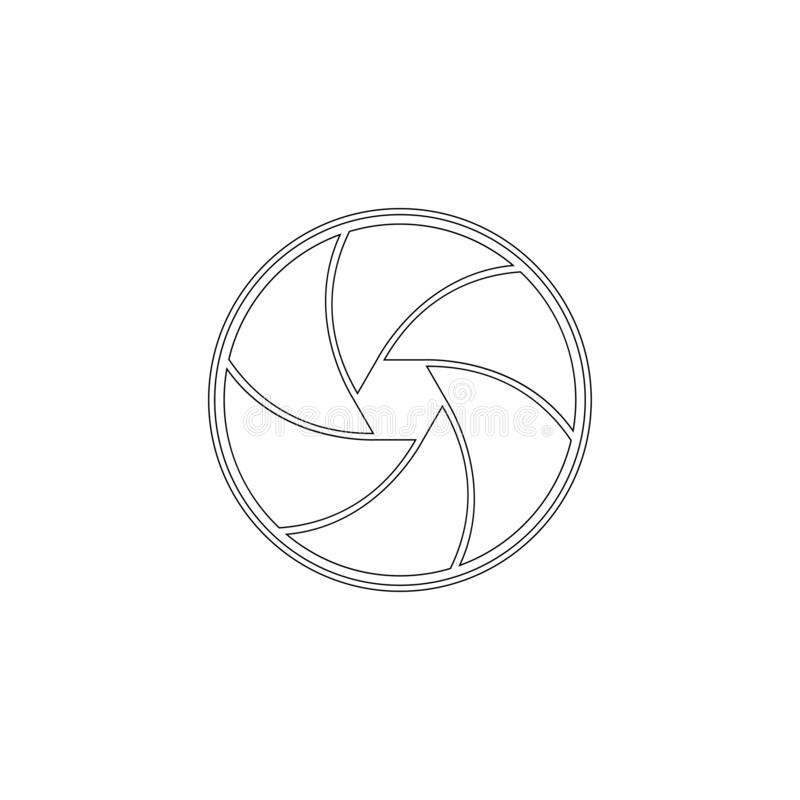 Aperture focus. flat vector icon. Aperture focus. simple flat vector icon illustration. outline line symbol - editable stroke royalty free illustration