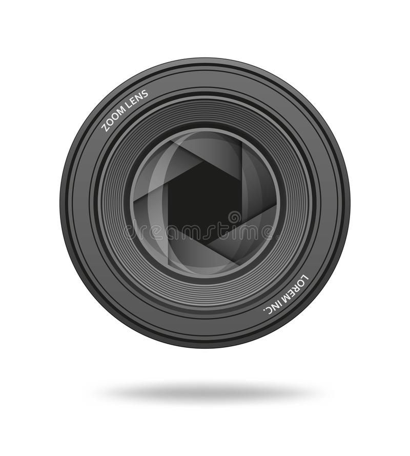 Aperture icon. Camera shutter lens diaphragm row. Vector illustration royalty free illustration