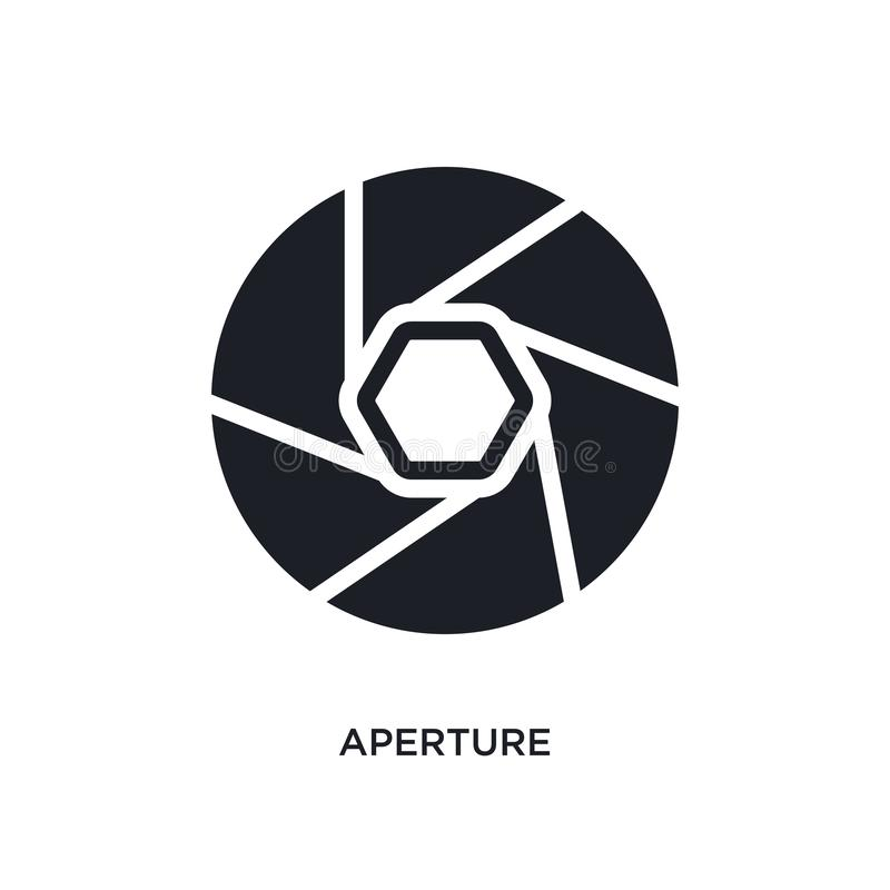 aperture isolated icon. simple element illustration from electronic stuff fill concept icons. aperture editable logo sign symbol royalty free illustration