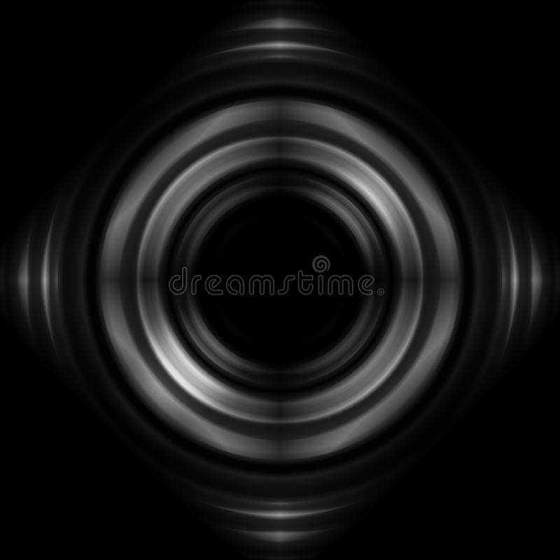 Aperture with lens effect, abstract background.  vector illustration