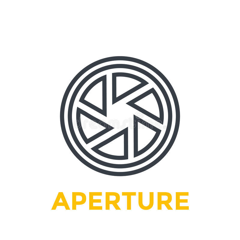 Aperture line icon. Eps 10 file, easy to edit royalty free illustration