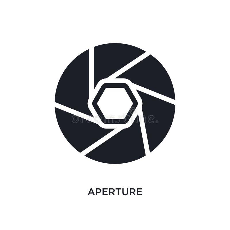 apertury odosobniona ikona prosta element ilustracja od elektronicznych materiał pełni pojęcia ikon apertura logo znaka editable  royalty ilustracja
