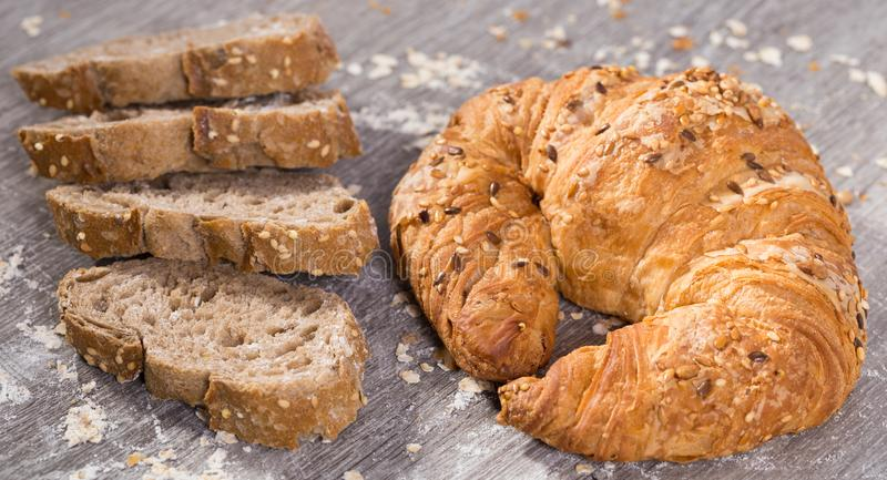 Apetics bakery products in wide variety. Wide range of fresh baked goods used in the store stock images