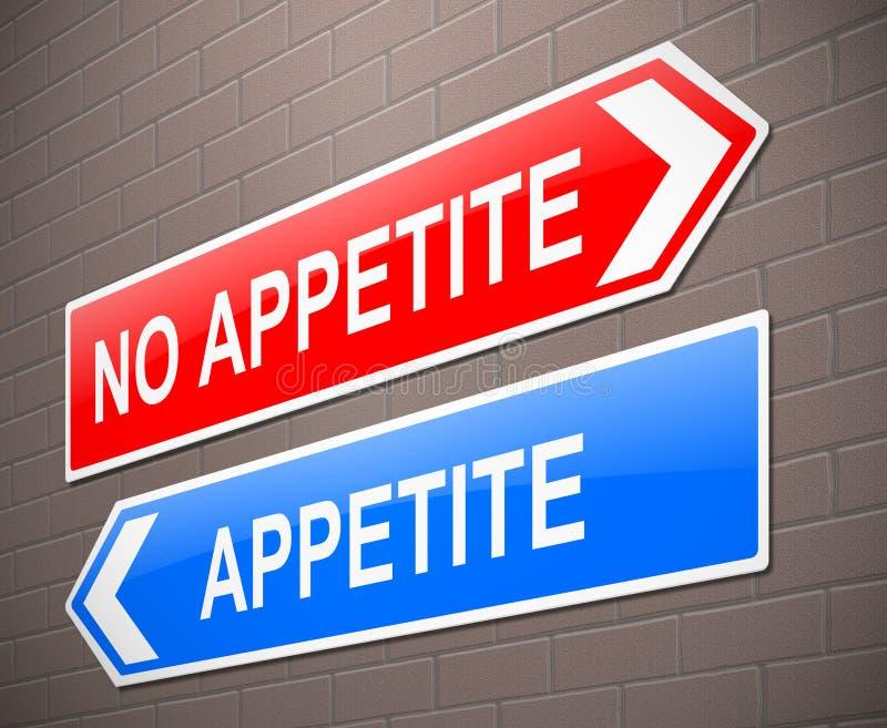 Apetite ou nenhum conceito do apetite ilustração do vetor