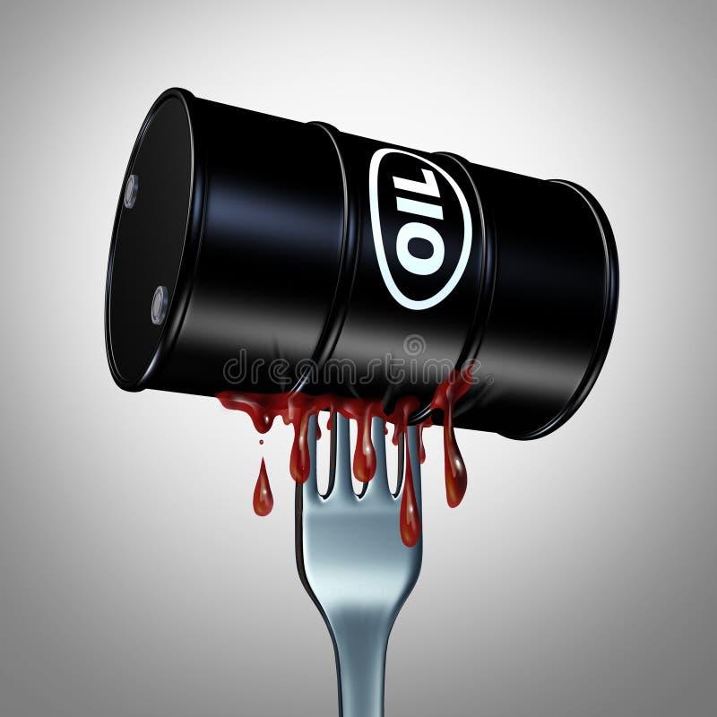 Apetite para o combustível de óleo ilustração do vetor