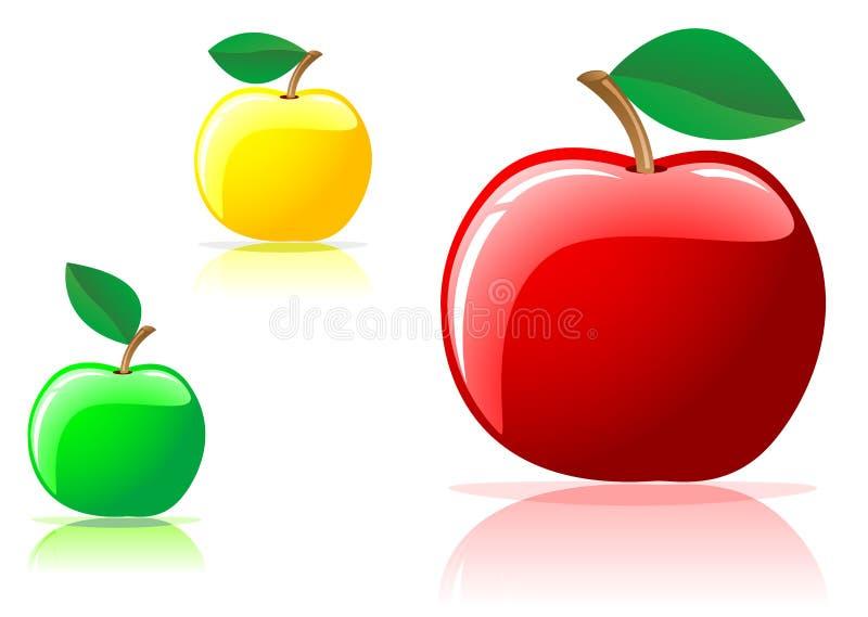 apetyczni jabłka ilustracja wektor
