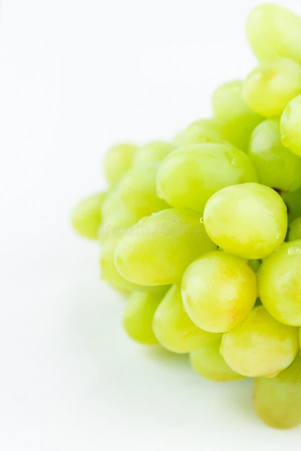 Apetyczni winogrona na bielu fotografia stock