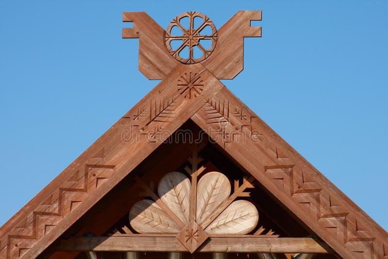 Apex corroso di legno fotografie stock libere da diritti