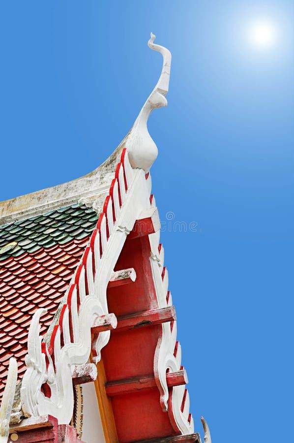 Apex de pignon de temple thaï images stock
