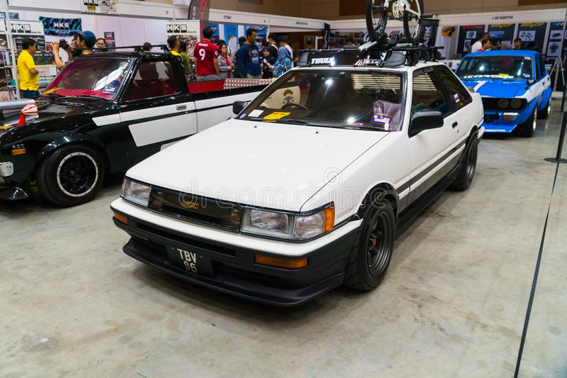 Apex de Toyota Corolla Levin 2Door GT image libre de droits