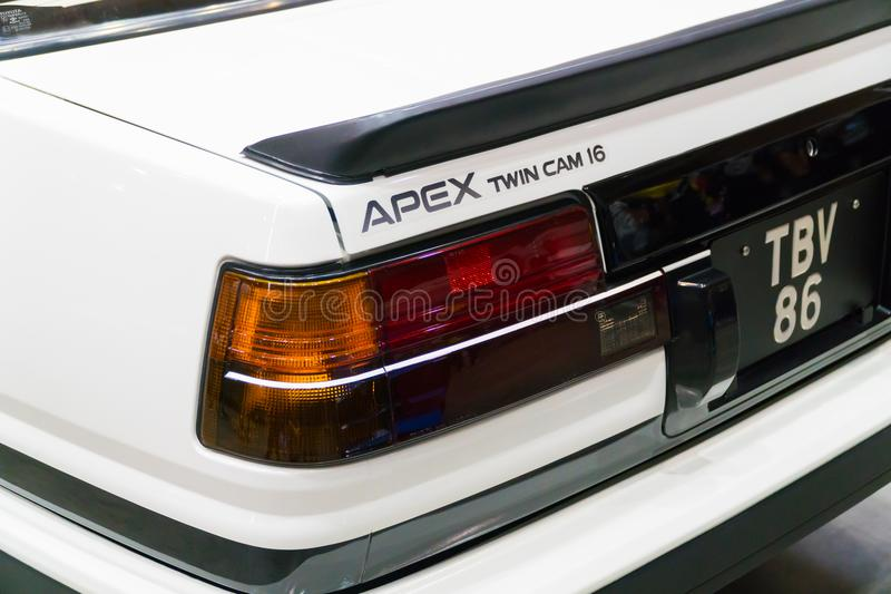 Apex de Toyota Corolla Levin 2Door GT photos libres de droits