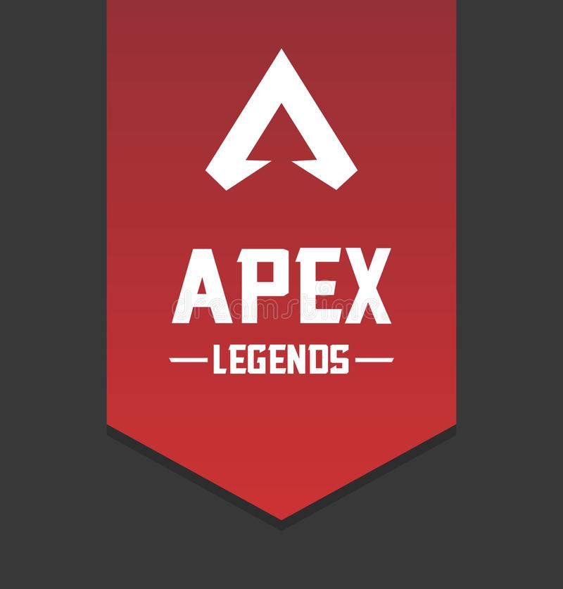 Apex Legends Logo. Illustration of the video game Apex Legends` logo along with its name vector illustration