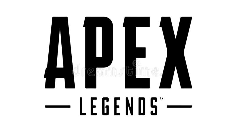 Apex Legends Battle Royale Logo Vector. Apex Legends Logo Vector Battle Royale editorial illustration on white background stock illustration