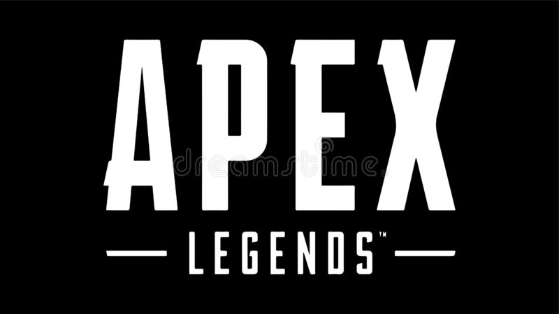 Apex Legends Battle Royale Logo Vector. Apex Legends Logo Vector Battle Royale editorial illustration on white background vector illustration