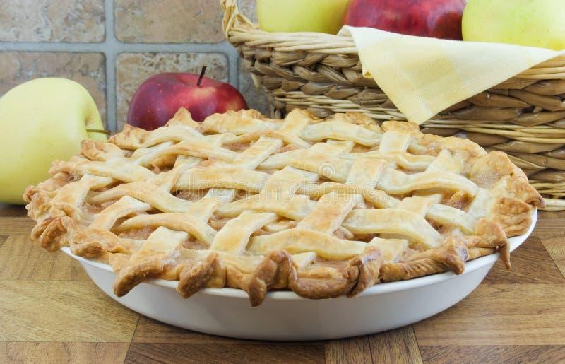 Apfelkuchen lizenzfreie stockfotos