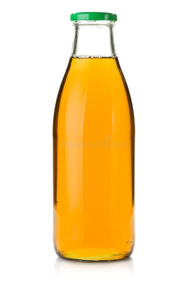 Apfelsaft in einer Glasflasche stockbilder