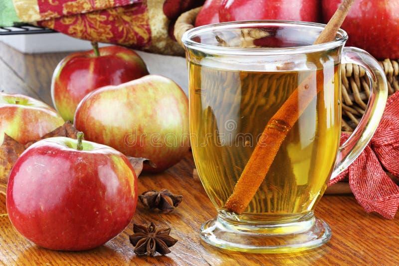 Apfelsaft und Äpfel stockfoto