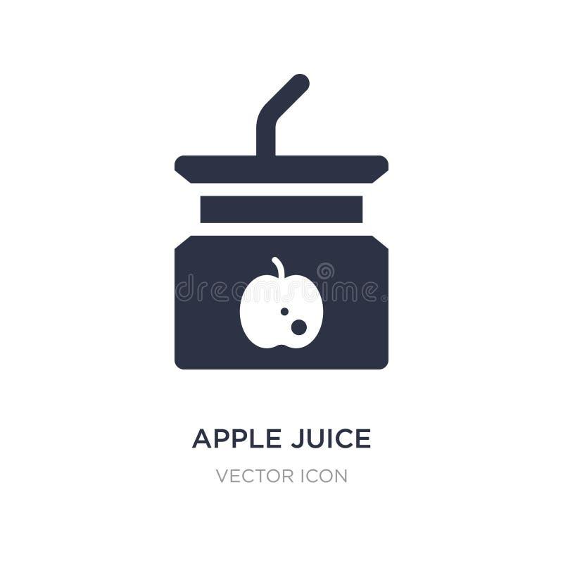 Apfelsaftikone auf weißem Hintergrund Einfache Elementillustration vom Getränkkonzept stock abbildung