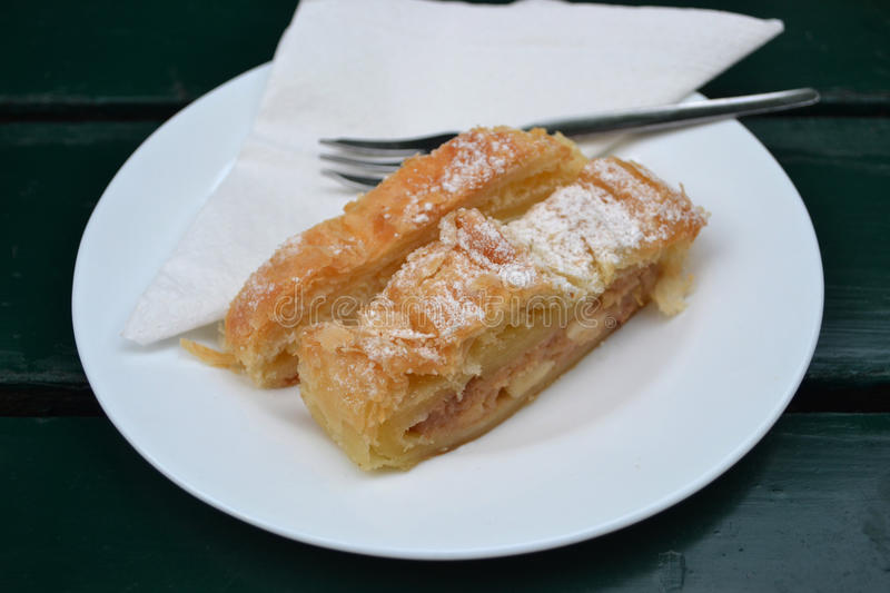 Apfelstrudel. Typical austrian dessert/cake stock images