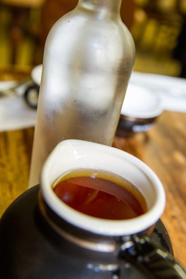 Apfelweinglas stockfotos