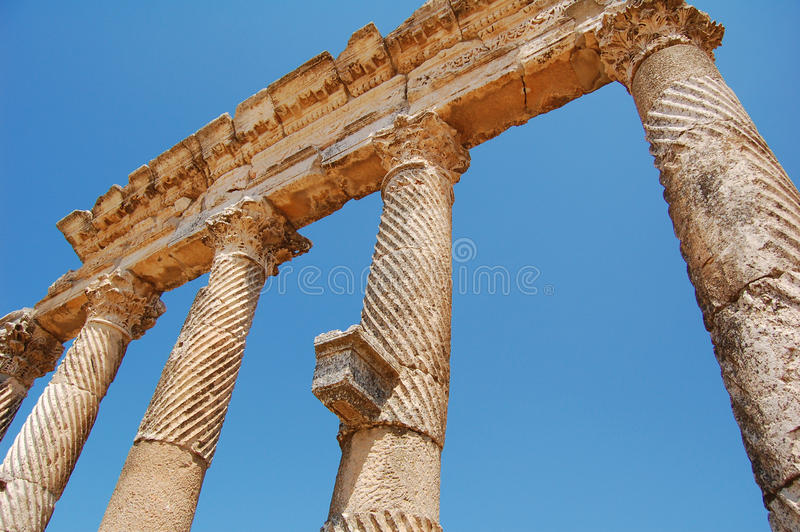 aphamiaen fördärvar syria royaltyfri bild