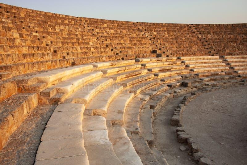 Aphitheater в famagusta Кипре стоковое изображение rf