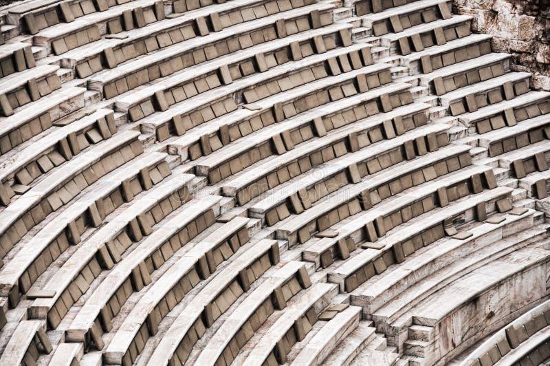 Aphitheather della Grecia fotografia stock