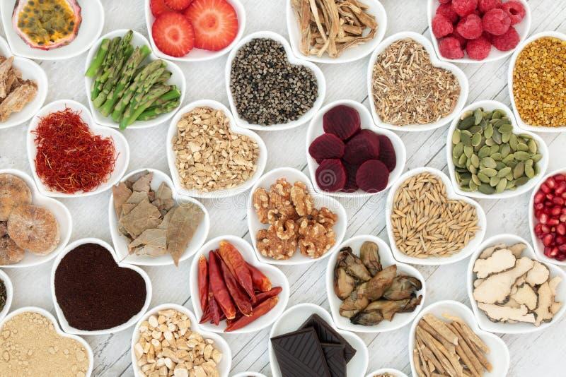 Aphrodisiac jedzenie dla Plciowych zdrowie zdjęcie royalty free