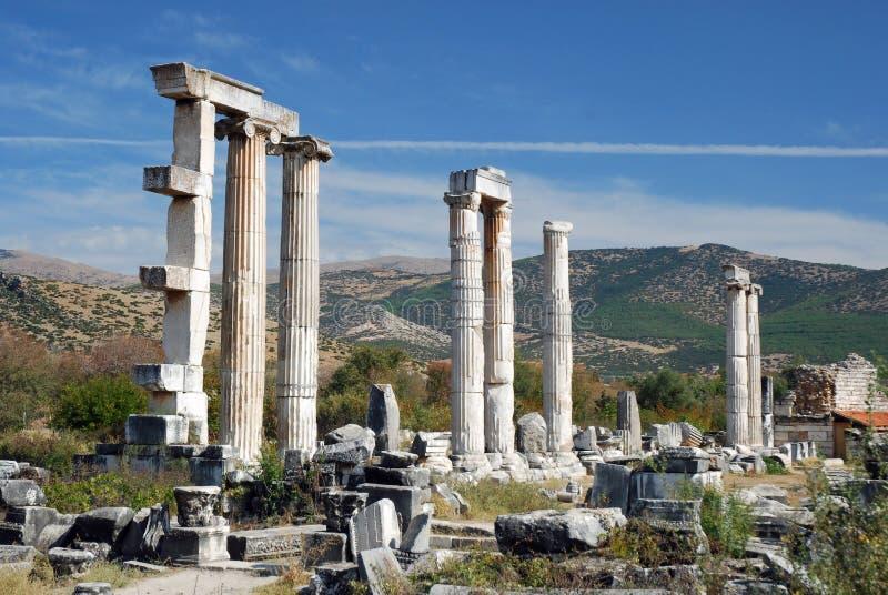 Aphrodisias - висок Афродиты - Турция стоковые фото