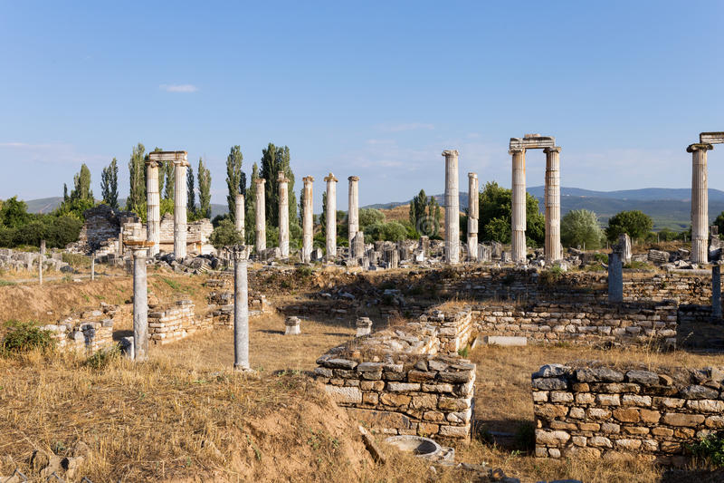 Aphrodisias Antyczny miasto, Aphrodisias muzeum, Ayd? n, Egejski region Turcja, Lipiec, - 9, 2016 zdjęcie royalty free