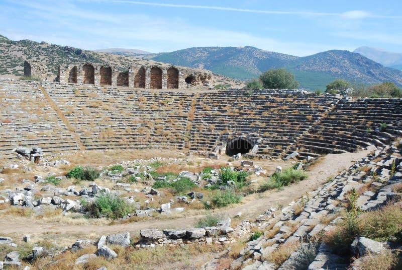 Aphrodisias - Roman Stadium - Turkey. The Aphrodisias stadium the best preserved of all the ancient stadiums in the Mediterranean region - Turkey - Ancient royalty free stock image