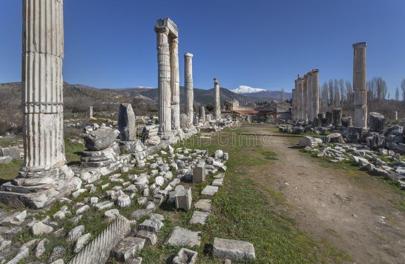 Aphrodite świątynia w Aphrodisias obraz stock
