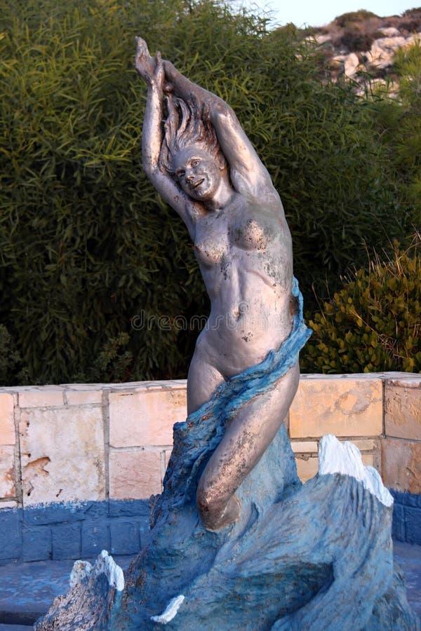 Aphrodite av gudinnan av förälskelse, Cypern arkivbild