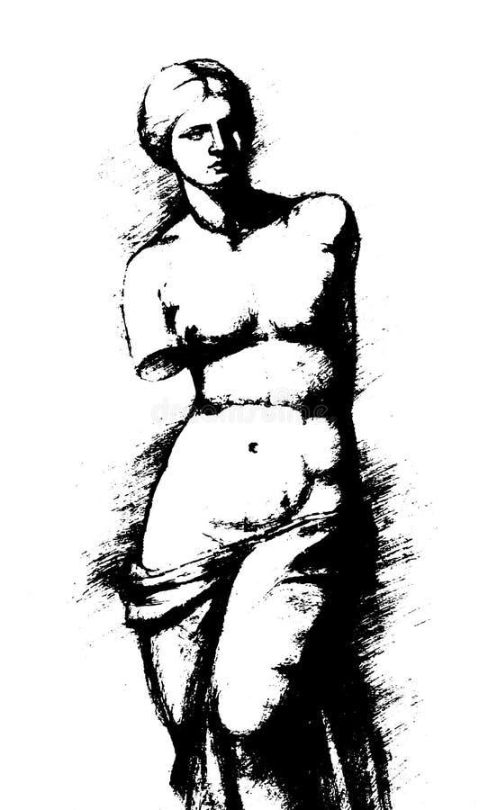 Aphrodite des Milos - Vénus - illustration de vintage illustration de vecteur