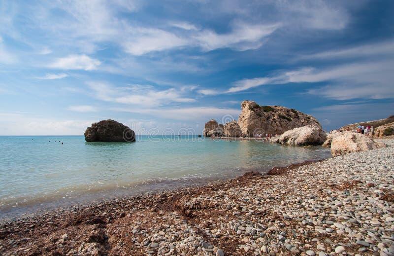 Aphrodite legendarny miejsce narodzin fotografia stock