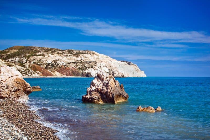 Aphrodite legendarny miejsce narodzin w Paphos, Cypr zdjęcia royalty free