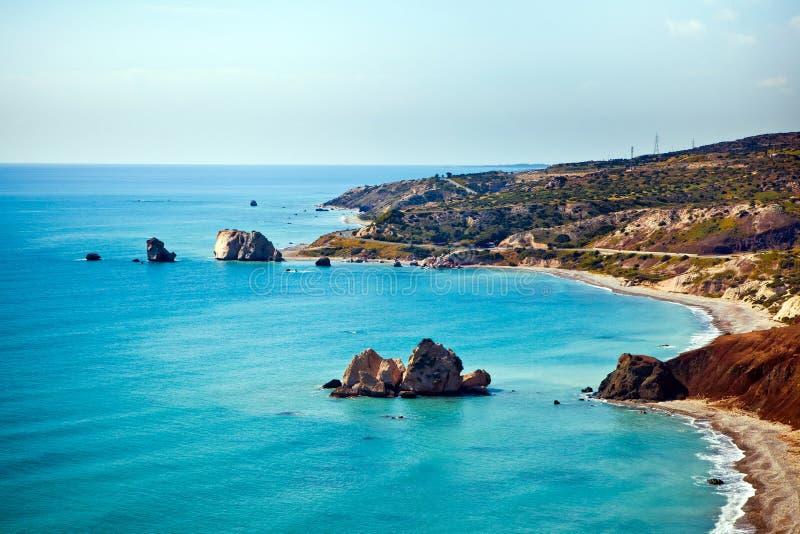 Aphrodite miejsce narodzin w Paphos, Cypr zdjęcie royalty free