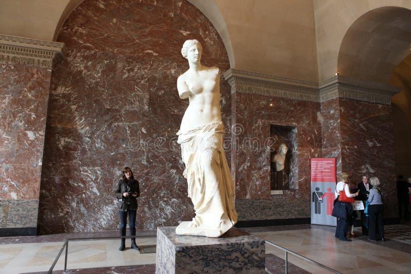 Aphrodite Milos przy louvre muzeum obraz stock