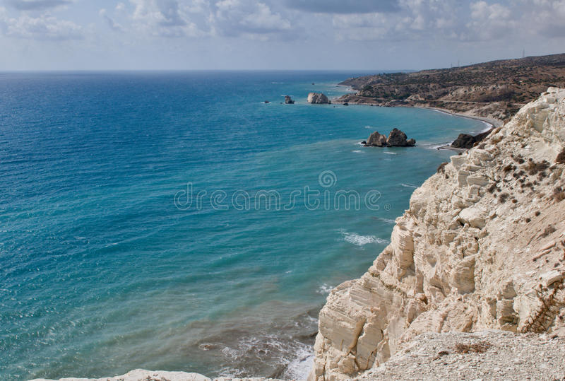 Aphrodite s miejsce narodzin Cypr obrazy stock