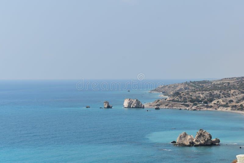 Aphrodite ` s skała w Cypr obraz royalty free