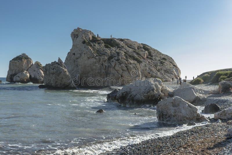 Aphrodite skała w Cypr zdjęcia stock