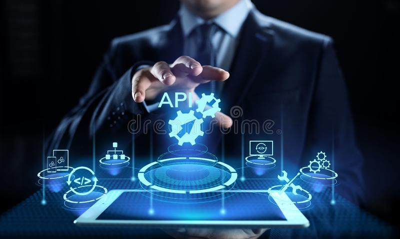 API应用编程界面发展技术概念 免版税库存照片